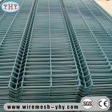 черные панели загородки ячеистой сети PVC 2X4 Coated с кривым