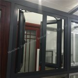 Ventana de aluminio fácil del marco de Essembled con el vidrio endurecido doble