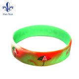 Bracelet en silicone de Mode personnalisé logo imprimé Bracelet en caoutchouc