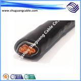Изолированный XLPE гофрированный Al и ПВХ оболочку в продольном направлении водостойкий кабель питания высокого напряжения