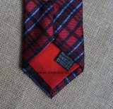 Poly cravate fabriquée à la main noire et par rouge contrôlée
