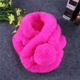 Fashion Faux Rex Rabbit女性毛皮の大きい冬のスカーフ