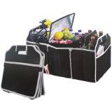 Organizador de troncos de automóveis portátil dobrável com compartimento do resfriador para piquenique