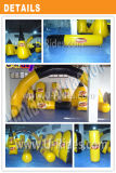 Paintball gonflable Obstacle coloré jaune et noir