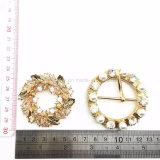 2017熱い円形の水晶はベルトの靴か帽子のアクセサリまたはブートのベルトの留め金に投石する