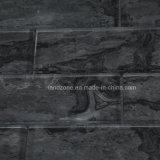 Schwarzer Marmorentwurfs-Ziegelstein-Glasmosaik-Fliese
