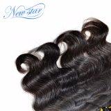 I capelli umani dell'onda all'ingrosso del corpo impacchettano la trama naturale dei capelli neri