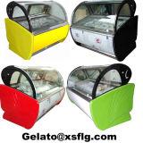 Affichage de la crème glacée italienne congélateur avec Free Gelato Tubs