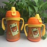 Doppel-wandiges Vakuum Isoliernahrungsmittelgrad-Edelstahl-Kind-Wasser-Flasche mit doppeltem Griff