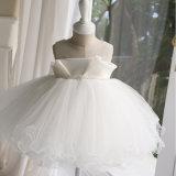 La robe ene ivoire de fille de Tulle hérissée la plus neuve pour le mariage