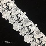 garniture de lacet d'ivoire de 6.5cm, garniture nuptiale de lacet, lacet de cru, lacet de garniture de bijou, rétro garniture de lacet avec le modèle de collier, garniture de lacet, cadre Hmhb884 de lacet