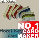 Cartão chave personalizado RFID NFC do hotel esperto sem contato da impressão