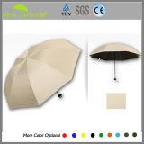 Manual guarda-chuva dobrável de cabeça para baixo
