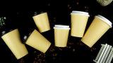 Taza de café de bambú biodegradable de la pulpa de la fibra/taza de café de papel