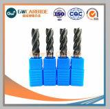 O carboneto de sólidos de tungsténio CNC 2/3/4 flautas Square/Esfera Ponta Mill