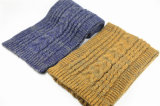 Для женщин и женщин Зима теплая цветовая смешанных кабель тяжелых трикотажные шарфы (SK165)