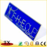 Insigne bleu d'étiquette d'émail mol