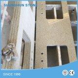 Brilho branco / Branco Puro Pedra de quartzo artificial para bancadas de trabalho de bancada