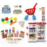 Supermercado Home plástico do jogo dos miúdos com brinquedo do varredor