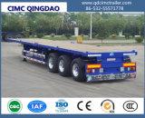 Cimc 3つのBPWの車軸トラックシャーシが付いている半タンザニア40FTの平面のトレーラー