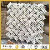 Каррарским мрамором, белого мрамора мозаика плитка для ванной комнаты