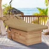 Salon de beauté VIP Socle en bois de la beauté du visage Table de massage lit avec fonction d'inclinaison du dossier électriquement (D14916)