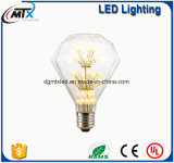 E27 G95 LED RGB Edison 별 요전같은 끈 전구 크리스마스 파티 램프 LED 별 전구