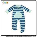 Печать полосы малыша одежду малышей Romper длинной втулки