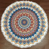 Красивейшее Superfine полотенце пляжа печатание круглой формы волокна