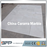 浴室の床タイルのための中国白のカラーラの大きい大理石の平板