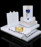 Les canalisations verticales acryliques pourprées nobles de présentoir de bijou