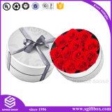 Шикарная упаковывая коробка бумажного круга цветка Rose подарка