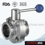 Нержавеющая сталь санитарно класс зажимная Пневматический клапан-бабочка (JN-BV1007)