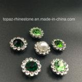 O ajuste decorativo da garra da flor do Rhinestone do cristal do presente 9mm do Natal Sew em Strass para a jóia do vestuário