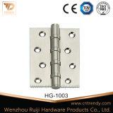 Charnière de bout en laiton de porte roulement à billes avec Pin fixe (HG-1003)
