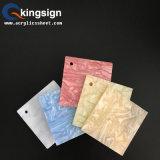 Hoja de acrílico modificada para requisitos particulares del grano de madera colorido para la decoración