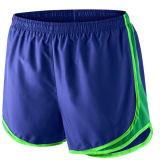 Shorts do corredor de treinamento do poliéster do desgaste dos esportes dos homens com encanamento