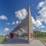 現代デザインの安い鉄骨構造の給油所の研修会