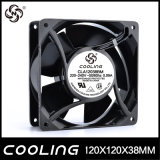 La refrigeración ventilador AC 220V y 120*120*38mm cable de cobre de cojinetes lisos
