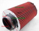 воздушный фильтр автомобиля высоты 230mm красный с универсалией 76mm/89mm/102mm