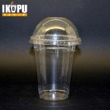 Tazza di plastica dell'animale domestico a gettare trasparente libero stampata abitudine con il coperchio