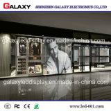 Visualización video transparente/del vidrio a todo color P5-8/ventana de la pared LED de pantalla para el anuncio al aire libre de interior del anuncio publicitario del uso
