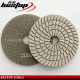 Almofada de polonês flexível da resina 3000# espiral para o granito