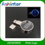Lecteur flash USB de cristal du coeur USB Pendrive