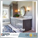 Cozinha/banheiro/hotel brancos da parte superior da vaidade de quartzo de Carrara da cor branca