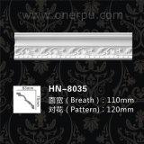 Modanatura di parte superiore bianco barrocco da vendere il cornicione Hn-8035 del poliuretano
