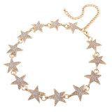 方法ラインストーンのダイヤモンド水晶デザイナー星の金属のチョークバルブのネックレスの宝石類