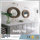 Белые искусственние каменные верхние части тщеты ванной комнаты кварца для гостиницы/коммерчески проекта