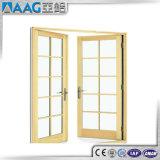 現代デザイングリルデザインのアルミニウム開き窓のドア