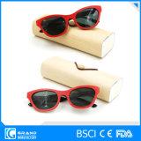 Occhiali da sole di bambù polarizzati Ce di disegno dell'Italia del contrassegno privato con il caso